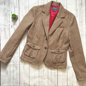 American Eagle Houndstooth Tailored Blazer